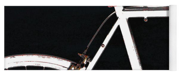 Bike In Black White And Red No 1 Yoga Mat