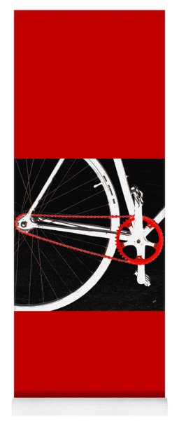 Bike In Black White And Red No 2 Yoga Mat