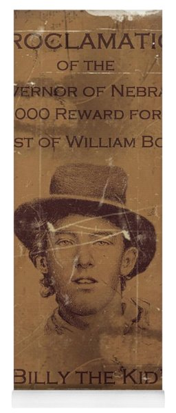 Billy The Kid Wanted Poster Yoga Mat