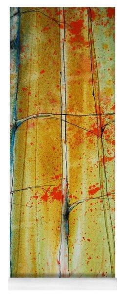 Birch Tree Forest - Left Yoga Mat