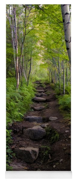 Birch Woods Hike Yoga Mat