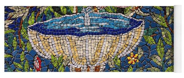 Birdbath Mosaic Yoga Mat