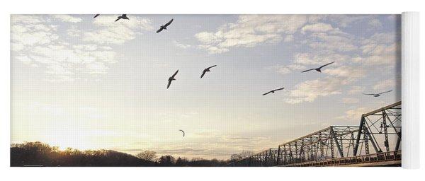 Birds And Bridges Yoga Mat