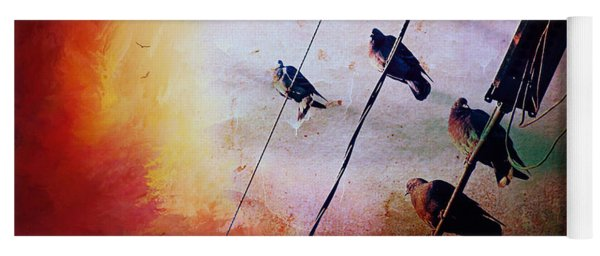 Birds On A Wire Yoga Mat