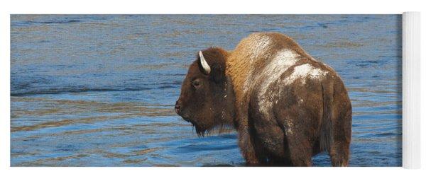 Bison Crossing River Yoga Mat