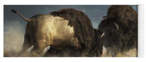 Bison Fight Yoga Mat