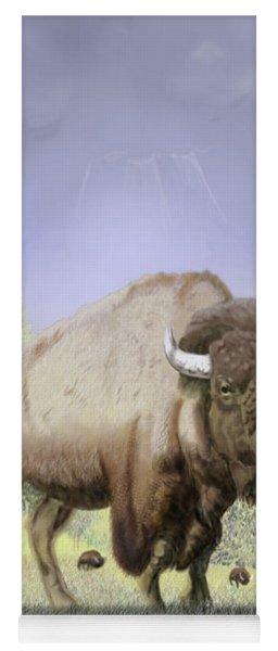 Bison On The Range Yoga Mat
