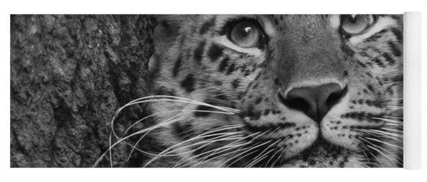 Black And White Amur Leopard Yoga Mat