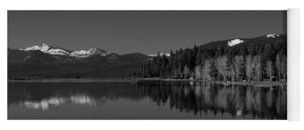 Black And White Lake Tahoe Reflection Yoga Mat