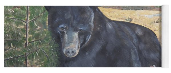 Yoga Mat featuring the painting Black Bear - Wildlife Art -scruffy by Jan Dappen