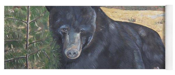 Black Bear - Wildlife Art -scruffy Yoga Mat