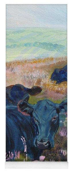 Black Cows On Dartmoor Yoga Mat