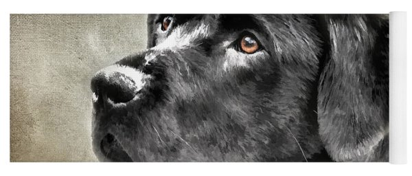 Black Lab Portrait Yoga Mat