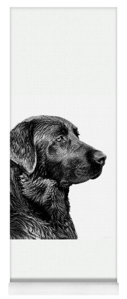 Black Labrador Retriever Dog Monochrome Yoga Mat