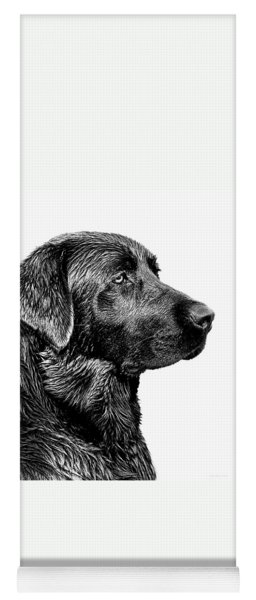Black Labrador Retriever Dog Monochrome Yoga Mat