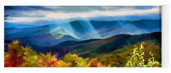 Black Mountains Overlook On The Blue Ridge Parkway Yoga Mat