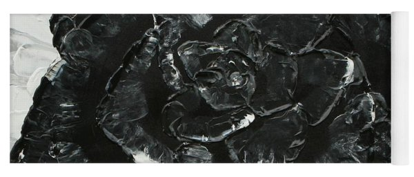 Black Rose I Yoga Mat