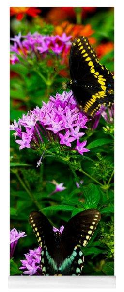 Black Swallowtails Yoga Mat