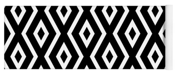 Black And White Pattern Yoga Mat