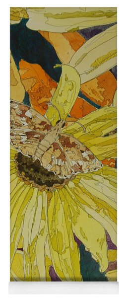 Blackeyed Susans And Butterfly Yoga Mat