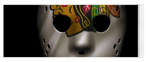 Blackhawks Jersey Mask Yoga Mat