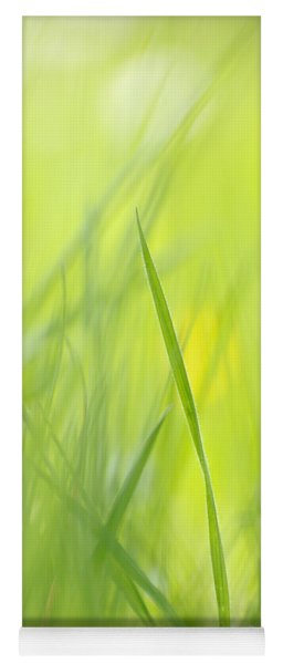 Blades Of Grass - Green Spring Meadow - Abstract Soft Blurred Yoga Mat