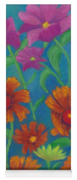 Blanket Flowers And Cosmos Yoga Mat