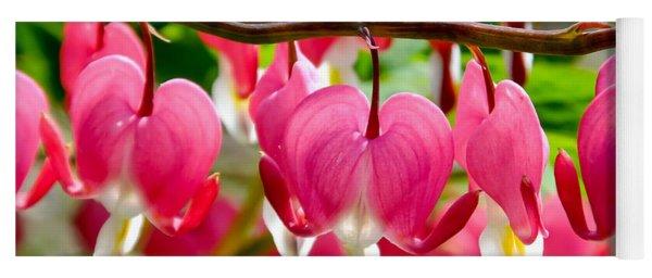 Bleeding Heart Flowers Yoga Mat