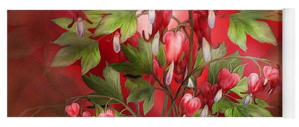 Bleeding Hearts Bouquet Yoga Mat