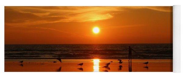 Bliss At Sunset   Yoga Mat