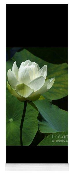 Blooming White Lotus Yoga Mat