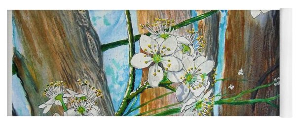 Blooms Of The Cleaveland Pear Yoga Mat