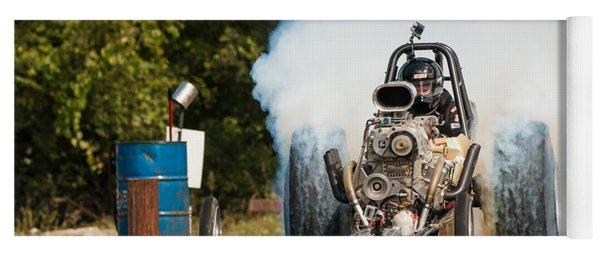 Blown Front Engine Dragster Burnout Yoga Mat