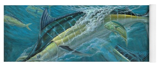 Blue And Mahi Mahi Underwater Yoga Mat