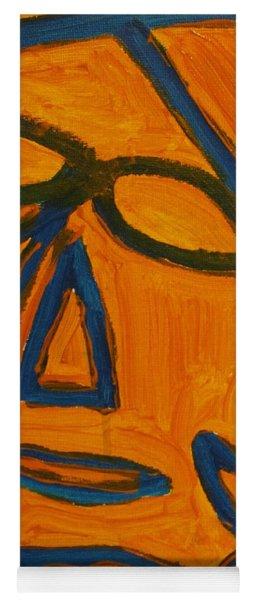 Blue And Orange Yoga Mat