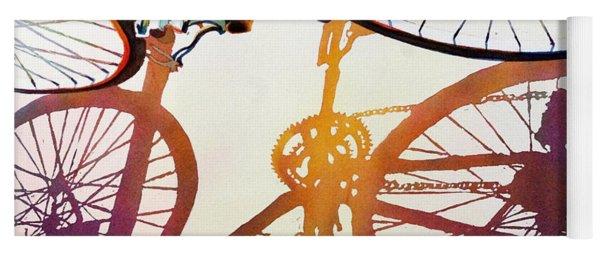 Blue Bike Yoga Mat