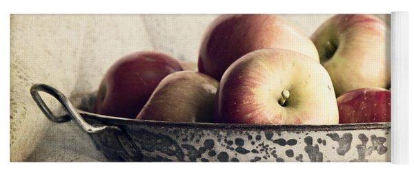 Blue Bowl Of Apples Yoga Mat