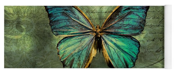 Blue Butterfly Yoga Mat