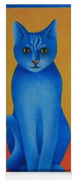 Blue Cat Yoga Mat