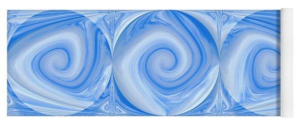 Blue Design Yoga Mat