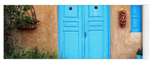 Blue Doors Of Taos Yoga Mat