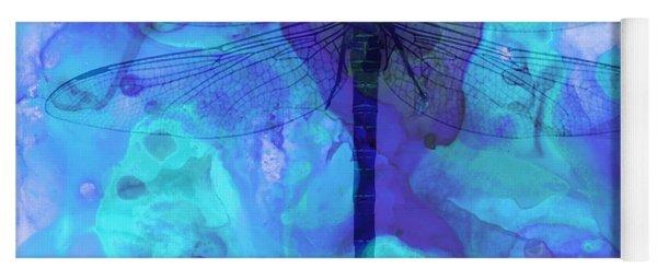 Blue Dragonfly By Sharon Cummings Yoga Mat