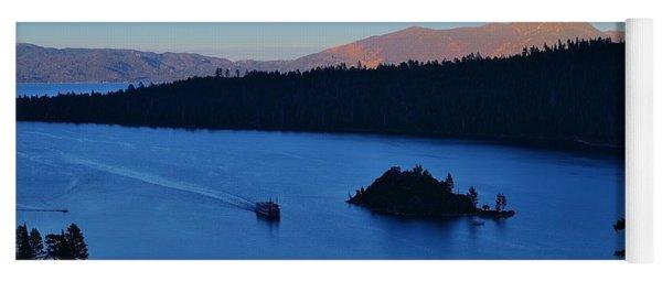 Blue Emerald Bay Lake Tahoe Yoga Mat