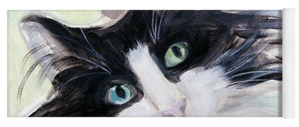 Blue Eye And Green Eye Yoga Mat