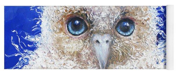 Blue Eyed Owl Painting Yoga Mat