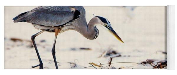 Blue Heron At The Beach Yoga Mat