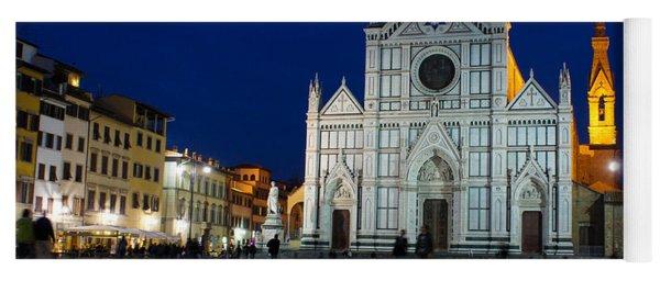 Blue Hour - Santa Croce Church Florence Italy Yoga Mat