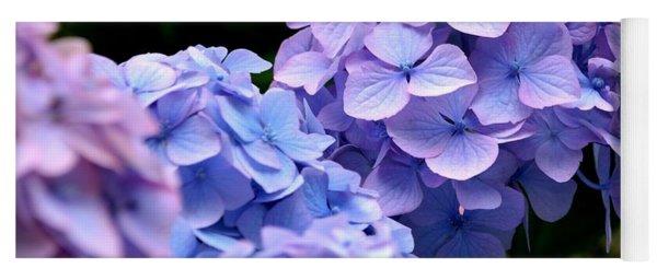 Blue Hydrangea Yoga Mat
