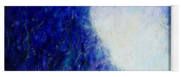 Blue Landscape - Abstract Yoga Mat
