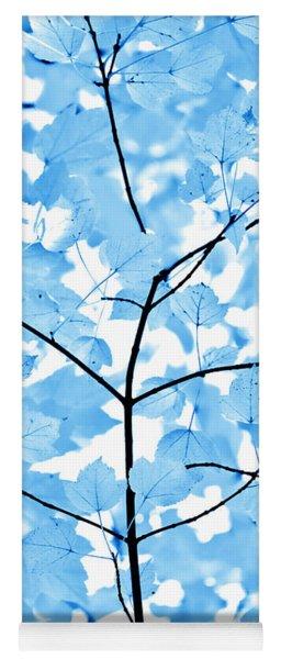 Blue Leaves Melody Yoga Mat